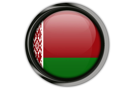 Belarus flag in the button pin Isolated on White Background
