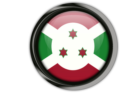 Burundi flag in the button pin Isolated on White Background Stock Photo
