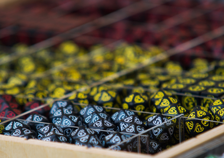 roleplaying: close up on role playing game rpg dices Stock Photo