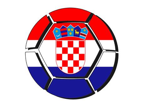 Croatia flag on football ball, 2018 Championship