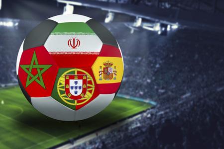 Football  group B  Portugal, Morocco, Spain, Iran