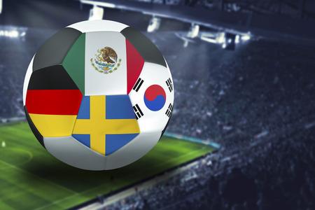 Football  group F  : Germany, Mexico, Sweden, South Korea Banco de Imagens