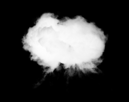 smoke or cloud on isolated on black background