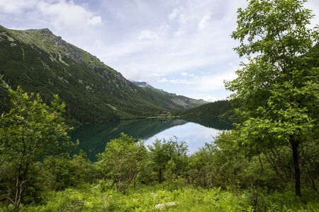 viem on Morskie Oko from the path to the Czarny Staw, Tatra, Poland