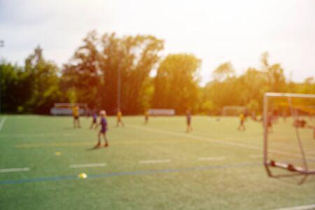 training of young footballers defocused