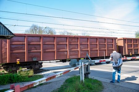 closed railway crossing, red light