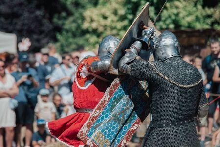 07/07/2018 Wojnowice, Poland, tournament, knights' match on the battlefield