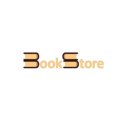 book store: Book Store Logotype Logo in vector graphic
