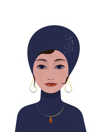 adivino: ar-deco de 1920 de la moda - Hermosa mujer gitana adivina o actriz Vectores