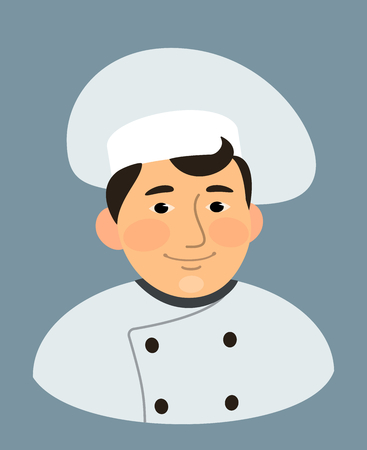 chief: a chief cook - cartoon isolated Illustration