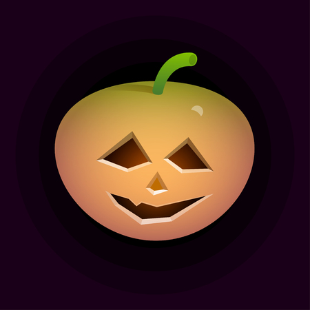 a pumpkin spooky face for Halloween isolated work clipping path