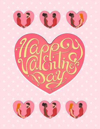 Happy valentines day greeting card for LGBT this February 14th.