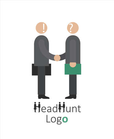 logo for headhunting company, Job search, job interview, employee search symbol concept, headhunting, vector illustration