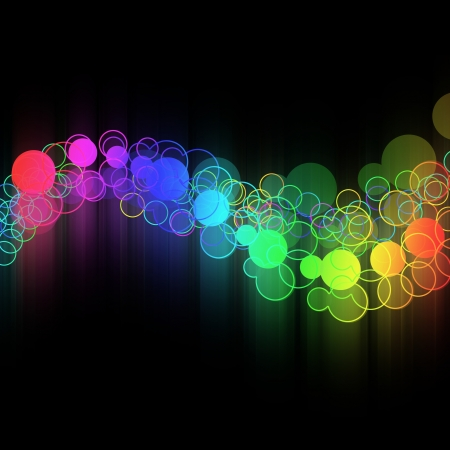 ides: Abstract colorful circle design concept. Stock Photo