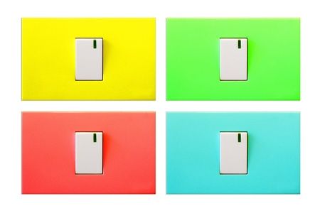 Electrical light switch on with background photo