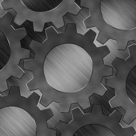 Steel texture and background with Gears design photo
