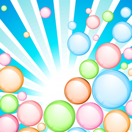bubble color background
