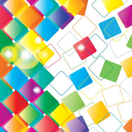 quadrati astratti: Rotondo Quadrato Abstract Design