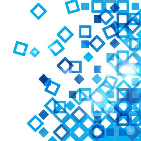 青い抽象デザイン  イラスト・ベクター素材