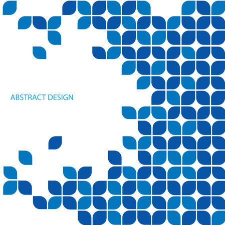 Blue abstract ontwerp