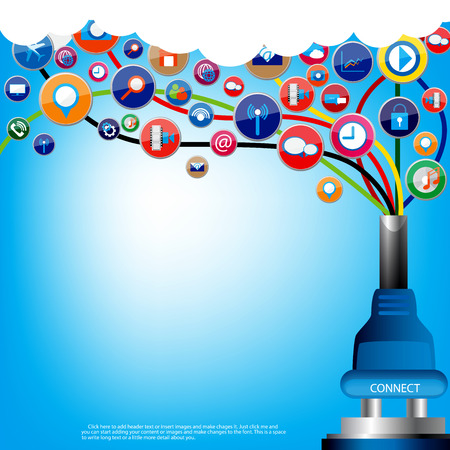 social communication: Social communication vector design