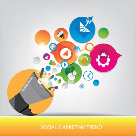 trend: Social marketing trend design Illustration