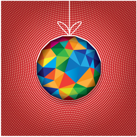 Multicolor triangle ball with white circle background Vector