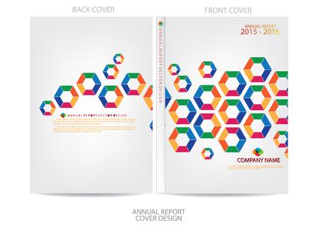report card: Annual report cover design