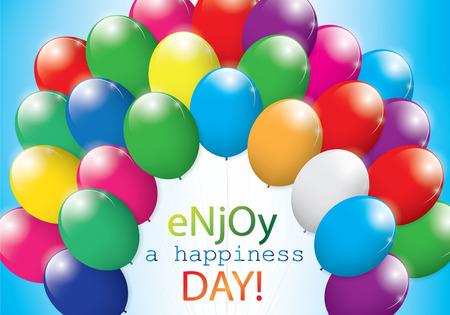 felicit�: Colore Balloon con Happiness sfondo