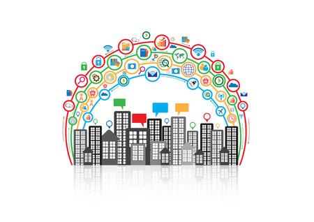 Communication technology design Illustration