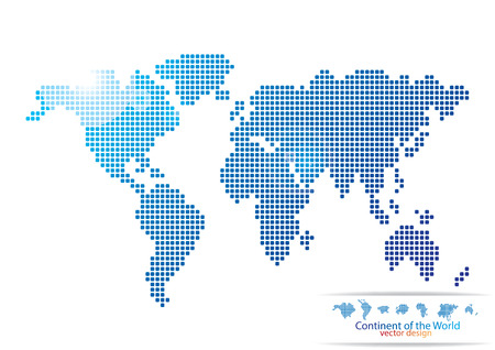 world map blue: MAP of the WORLD