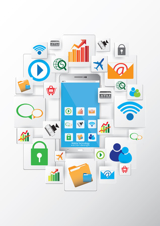 tecnologia comunicacion: Dise�o vectorial tecnolog�a de la comunicaci�n