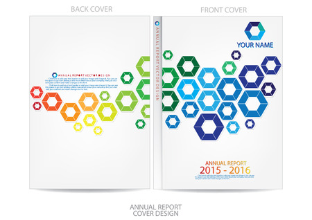 catalog background: Annual report cover design