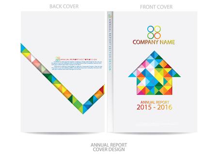 연간 보고서 표지 디자인 스톡 콘텐츠 - 36165751