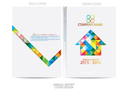 book cover: Annual report cover design