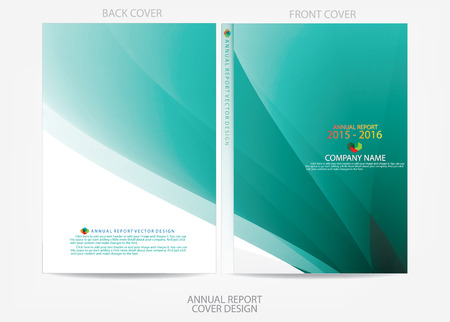 layout template: Annual report cover design