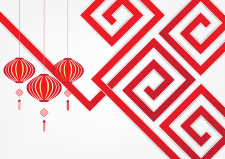chinese lantern: Abstract background chinese art design