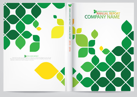 年次報告書の表紙デザイン  イラスト・ベクター素材