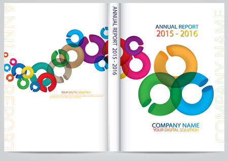 catalog templates: Annual report cover design