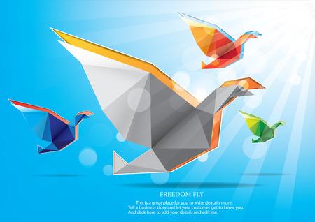 freedom: Freedom fly Illustration
