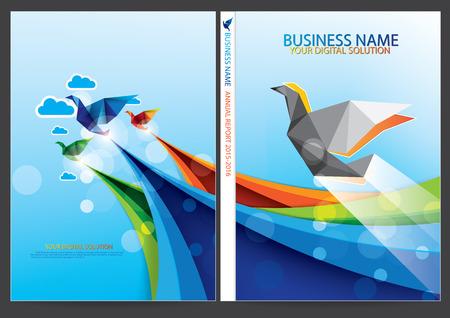 Relazione annuale cover design Archivio Fotografico - 39341144