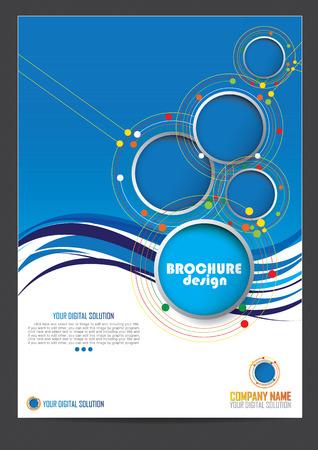 portadas: Folleto de diseño de la plantilla Vectores