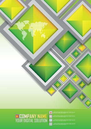 spread sheet: Brochure template design