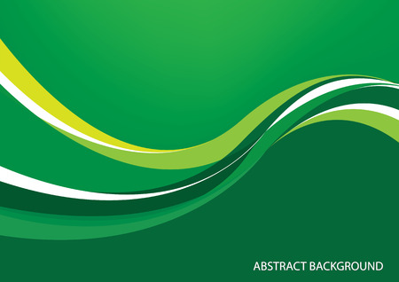 curve line: Green abstract background