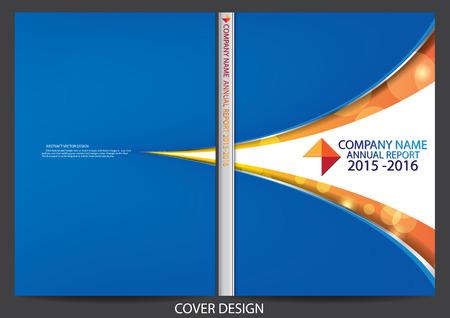 Raport roczny projekt okładki Ilustracje wektorowe