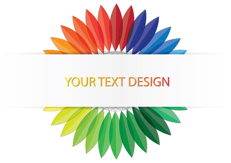 Color leave with space for text Vector