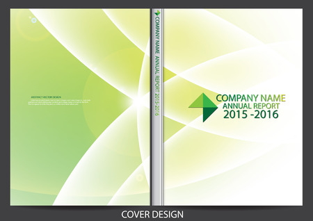 the cover: Annual report cover design