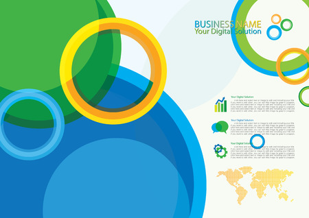 bstract: Business bstract template design Illustration