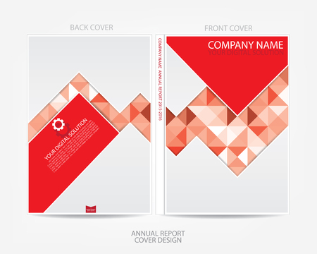 elegant design: Annual report cover design