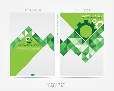 brochure cover: Annual report cover design